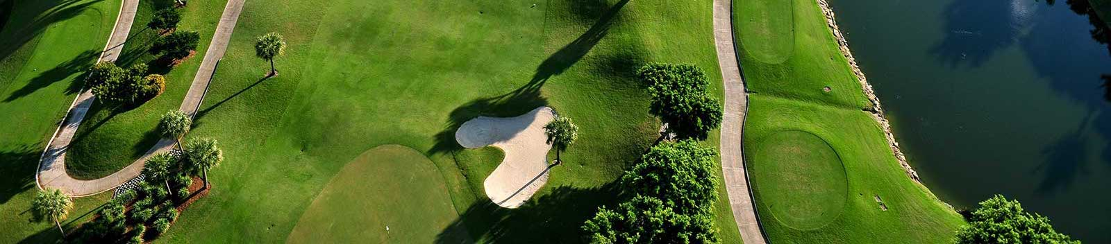 aerial view of nice florida municipal golf course